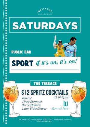 Bellevue Terrace Bar Spritz Summer Cocktail Special