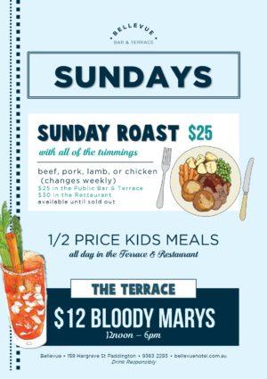 Sunday Roast Bellevue Terrace Bar Sunday Sessions
