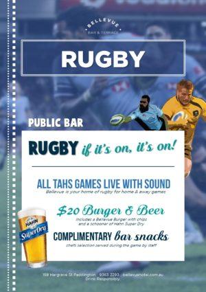 Bellevue Hotel Paddington Rugby Pub