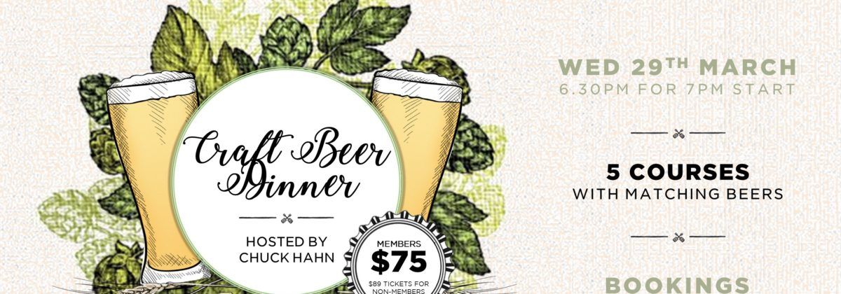 Bellevue Craft Beer Dinner March 29 Chuck Hahn