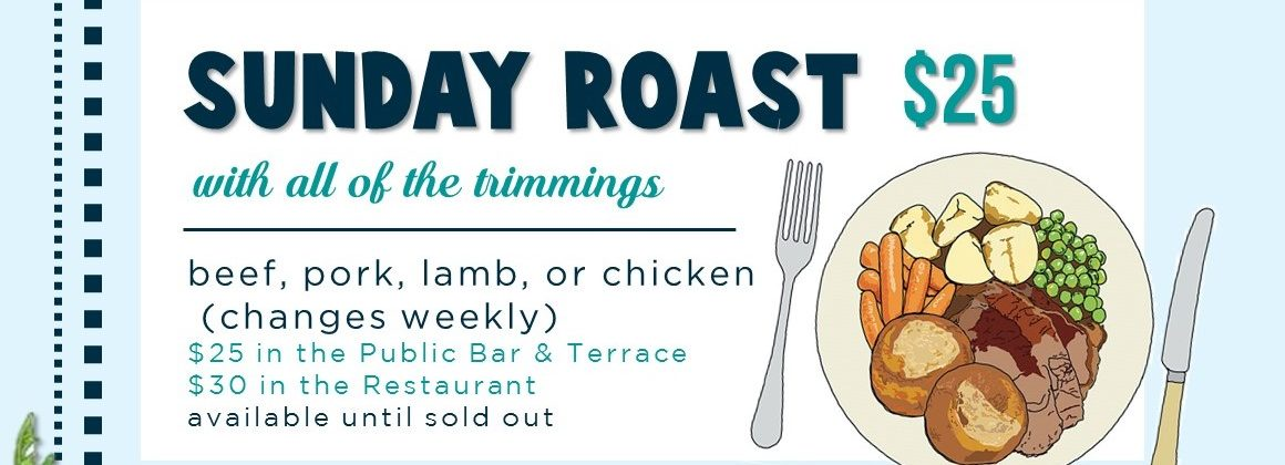 Sunday Roast Paddington Woollahra Sydney Pub Bellevue Restaurant