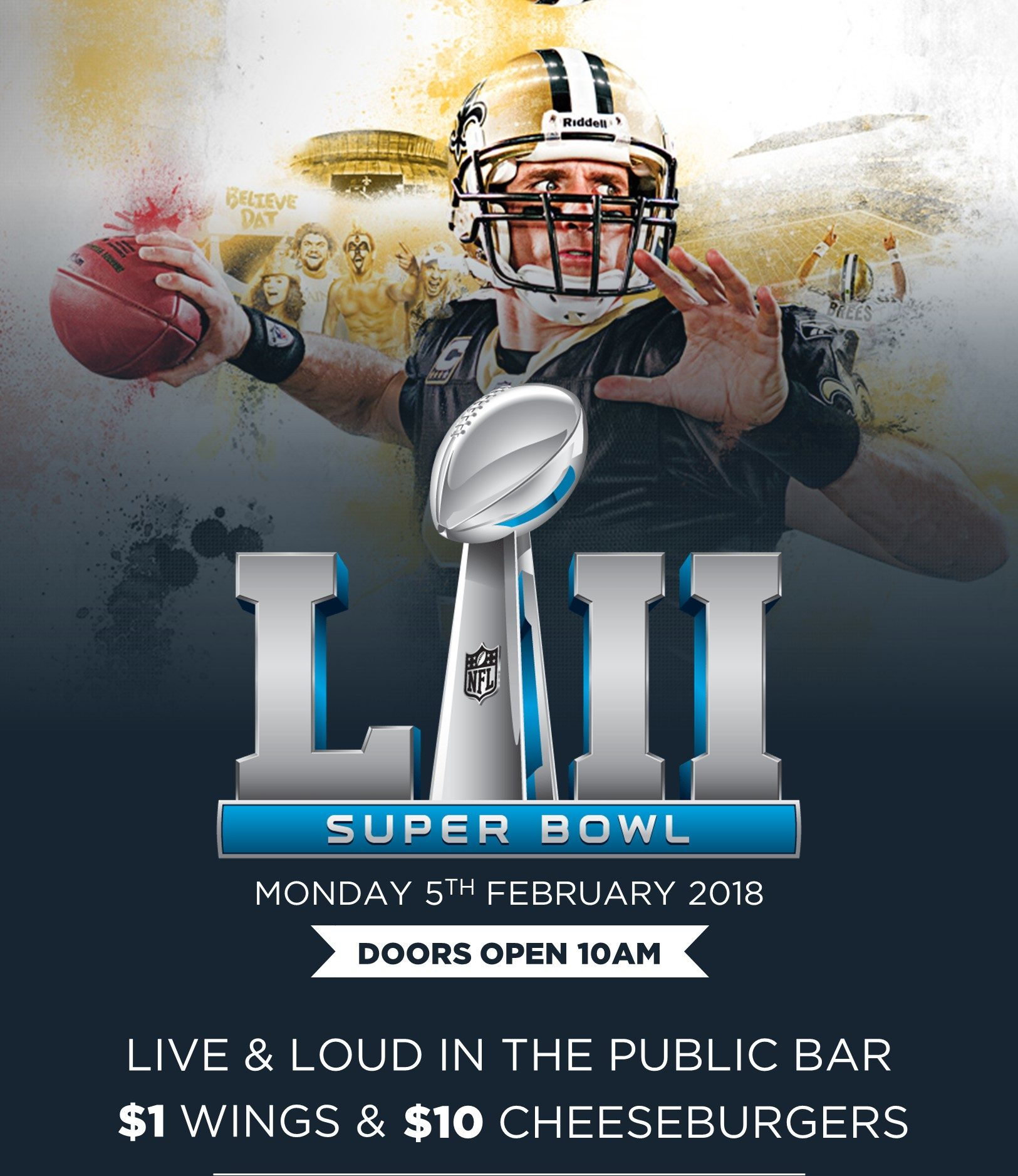 Super bowl Sydney pub watch live game bar nfl
